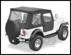 BESTOP Tigertop With 1 Piece Full Soft Doors In Black For 1976-86 Jeep CJ7 Models 51408-01