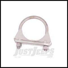 """Omix-ADA Exhaust Clamp 2-1/2"""" Stainless Steel Universal Application 17620.12"""