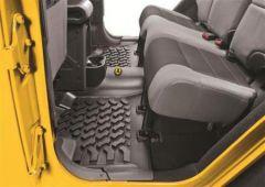 BESTOP Rear Floor Liners In Black For 2007-18 Jeep Wrangler JK Unlimited 4 Door Models 51504-01