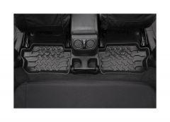 BESTOP Rear Floor Liners In Black For 2018+ Jeep Wrangler JL 2 Door Models 51516-01