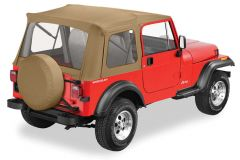 BESTOP Supertop With Clear Rear Windows In Spice Denim For 1976-95 Jeep Wrangler YJ & CJ7 Fits With Factory Steel Doors 51599-37