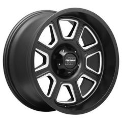 Pro Comp Series 64 Gunner 17x9 with 5x5 Bolt Pattern - Satin Black Milled PXA5164-7973