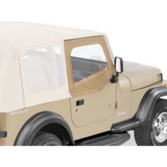 BESTOP Soft Upper Doors For Use With Factory Soft Top Only In Spice Denim For 1988-95 Jeep Wrangler YJ 51782-37