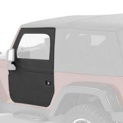 BESTOP Front Doors (2-Piece) Kit In Black Diamond For 2007-18 Jeep Wrangler JK 2 Door & Unlimited 4 Door Models 51798-35