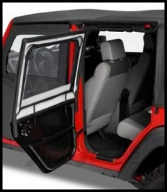 BESTOP HighRock 4X4 Element Rear Upper Doors in Black Diamond For 2007-18 Jeep Wrangler JK Unlimited 4 Door Models 51806-35