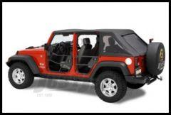 BESTOP HighRock 4X4 Rear Element Doors Set In Satin Black For 2007-18 Jeep Wrangler Unlimited 4 Door Models 51811-01