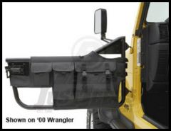 BESTOP Element Door Storage Bags In Black Denim For 1976-06 Jeep Wrangler YJ, TJ Models & CJ Series 51812-15