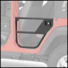 BESTOP HighRock 4X4 Element Doors Rear Set In Matte/Textured Black For 2007-18 Jeep Wrangler JK Unlimited 4 Door 51827-01