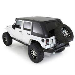 SmittyBilt Slant Two-Piece Hardtop For 2007-18 Jeep Wrangler JK Unlimited 4 Door Models 518703