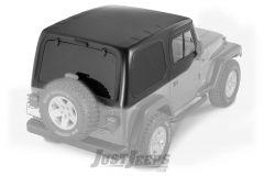 SmittyBilt 1 Piece Hard Top Kit With Upper Half Doors For 1997-06 Jeep Wrangler TJ Models 519801