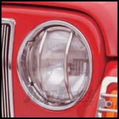 Rugged Ridge Euro Style Headlight Guards, Stainless Steel 1997-06 TJ Wrangler, Rubicon and Unlimited 11142.01