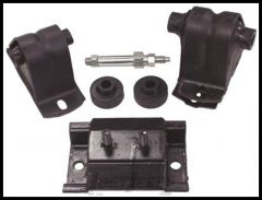 Crown Automotive Engine & Transmission Mount Kit For 1991-95 Jeep Wrangler YJ With 4 CYL 2.5L 52017534K
