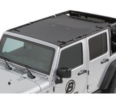 BESTOP Sun Bikini Safari Style Top In Black Diamond For 2007-18 Jeep Wrangler JK Unlimited 4 Door Models 52401-35