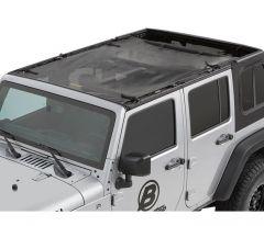 Bestop Safari Style Sun Bikini® Top In Mesh For 2007+ Jeep Wrangler JK Unlimited 4 Door