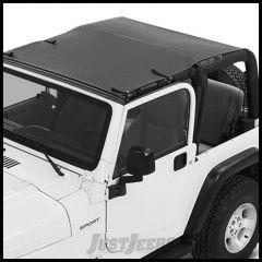 BESTOP Sun Bikini Safari Style Top In Black Diamond For 1997-06 Jeep Wrangler TJ 52404-35