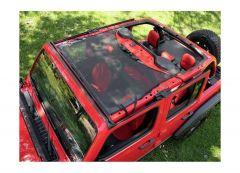 BESTOP Targa Style Sun Bikini Top (Black Mesh) For 2007-18 Jeep Wrangler JK 2 Door & Unlimited 4 Door Models 52410-11