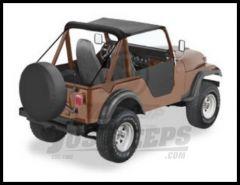 BESTOP Traditional Bikini Top In Black Crush For 1955-75 Jeep M38A1, CJ5 & CJ6 52505-01