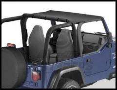 BESTOP Header Bikini Top In Black Denim For 1997-02 Jeep Wrangler TJ 52525-15