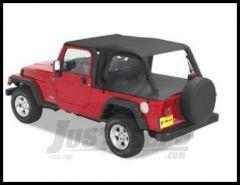 BESTOP Header Bikini Top Safari Version In Black Diamond For 2004-06 Jeep Wrangler TLJ Unlimited 52544-35