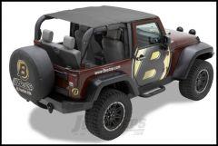 BESTOP Header Bikini Safari Version In Black Diamond For 2007-09 Jeep Wrangler JK 2 Door 52585-35