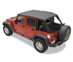 BESTOP Header Bikini Safari Version For 2010-18 Jeep Wrangler JK Unlimited 4 Door Models 52584-35