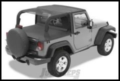 BESTOP Safari Bikini Top Cable Style In Mesh For 2010-18 Jeep Wrangler JK 2 Door 52593-11