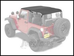 BESTOP Safari Bikini Top Cable Style In Black Diamond For 2010-18 Jeep Wrangler JK 2 Door 52593-35