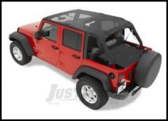 BESTOP Safari Bikini Top Cable Style In Mesh For 2010-18 Jeep Wrangler JK Unlimited 4 Door 52594-11