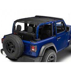 BESTOP Safari Header Bikini Top (Black Diamond) For 2018+ Jeep Wrangler JL 2-Door 52609-35