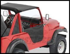 BESTOP Half Doors In Black Crush For 1951-81 Jeep M38A1, CJ5 & CJ6 53025-01