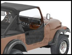 BESTOP Half Doors In Black Denim For 1976-86 Jeep CJ7 & CJ8 53028-15