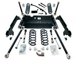 """TeraFlex 4"""" Enduro LCG Long Flexarm Suspension System - No Shocks For 1997-06 Jeep Wrangler TJ 1449472"""