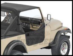 BESTOP Half Doors In Black Crush For 1980-95 Jeep Wrangler YJ, CJ7 & CJ8 53038-01