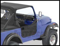 BESTOP Half Doors In Black Denim For 1980-95 Jeep Wrangler YJ, CJ7 & CJ8 53038-15