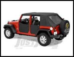 BESTOP Rear Half Doors Lowers In Black For 2007-18 Jeep Wrangler JK 2 Door & Unlimited 4 Models 53041-35