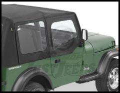 BESTOP Fabric Replacement Upper Door Skins In Black Denim For 1988-95 Jeep Wrangler YJ 53120-15