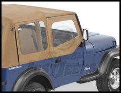 BESTOP Fabric Replacement Upper Door Skins In Spice Denim For 1988-95 Jeep Wrangler YJ 53120-37