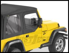 BESTOP Fabric Replacement Upper Door Skins In Black Denim For 1997-06 Wrangler TJ & Wrangler TJ Unlimited 53121-15