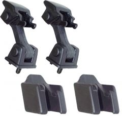Quadratec OEM Hood Latch Set in Black for 97-06 Jeep Wrangler TJ & Unlimited 13004.04