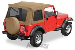 BESTOP Supertop With Tinted Rear Windows In Spice Denim For 1976-95 Jeep Wrangler YJ & CJ7 Fits With Factory Steel Doors 54599-37