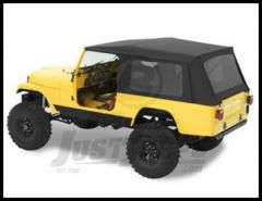 BESTOP Supertop Without Doors With Tinted Windows In Black Denim For 1981-85 Jeep CJ8 Scrambler 54608-15