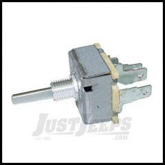 Omix-ADA Heater Blower Motor Switch 3-Speed 4-Prong 1976-1986 Jeep CJ5, CJ7 And CJ8 Scrambler 17903.02