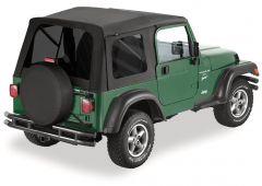 Bestop (Black Denim) Supertop With Tinted Rear Windows For 1997-06 Jeep Wrangler TJ Models 54709-15