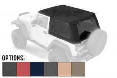 BESTOP Trektop Pro Hybrid Soft Top With Tinted Removable Glass Windows For 2007-18 Jeep Wrangler JK 2 Door Models 54862-