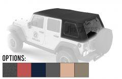 BESTOP Trektop Pro Hybrid Soft Top With Tinted Removable Glass Windows For 2007-18 Jeep Wrangler JK Unlimited 4 Door Models 54863-