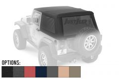 BESTOP Trektop NX Glide With Tinted Windows For 2007-18 Jeep Wrangler JK 2 Door Models
