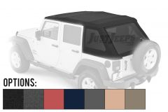 BESTOP Trektop NX Glide With Tinted Windows For 2007-18 Jeep Wrangler JK Unlimited 4 Door Models 54923-