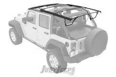 BESTOP Factory Style Hardware & Bow Kit In Black For 2007-18 Jeep Wrangler JK Unlimited 4 Door Models 55001-01