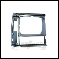 Omix-ADA Right Chrome Headlight Bezel; 1984-90 Cherokee XJ 12419.12