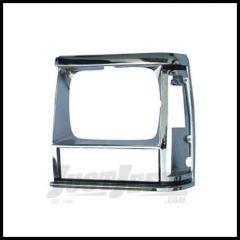 Omix-ADA Left Chrome Headlight Bezel; 1984-90 Cherokee XJ 12419.11
